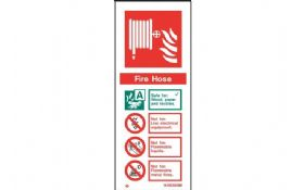 W6365M - FIRE HOSE EXTINGUISHER IDENTIFICATION SIGN 200 x 80mm